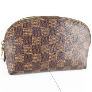 Louis Vuitton Cosmetic Case Damier Ebene Clutch